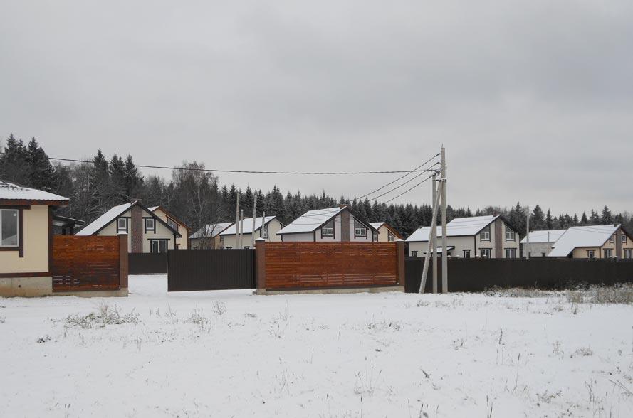 КП Дубровские зори, строительство домов, ноябрь 2015