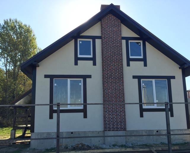 КП Дубровские зори, строительство домов, сентябрь 2015