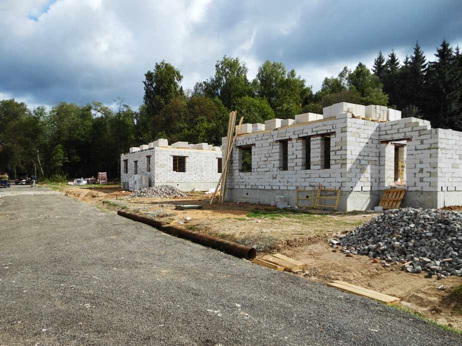 КП Дубровские зори, строительство домов, август 2015