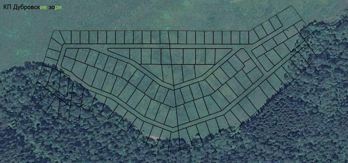 КП Дубровские зори, живописное место, идет межевание участков