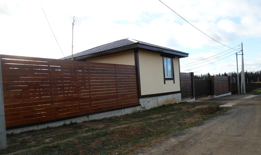 КП Дубровские зори, строительство домов, октябрь 2015
