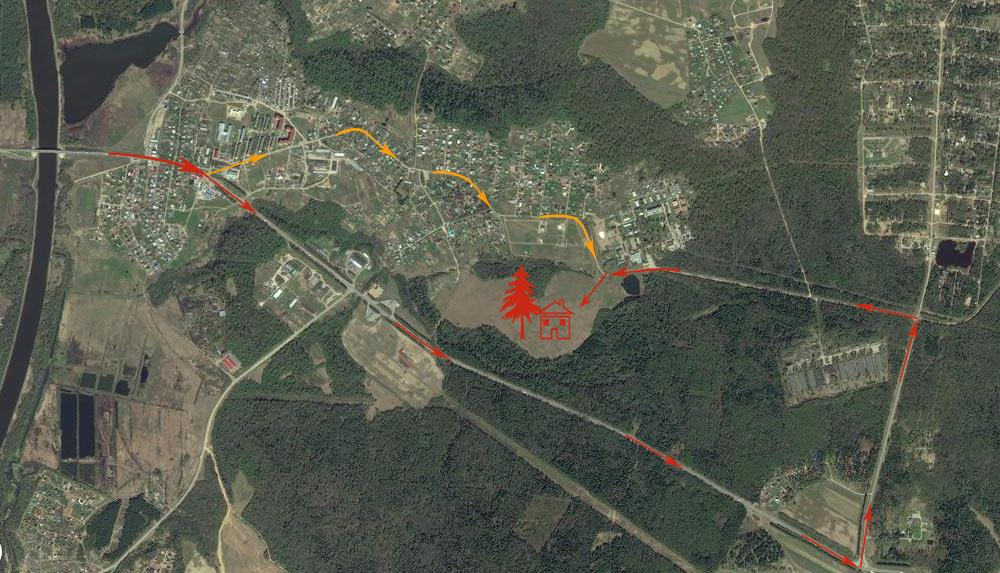 Два подъезда к поселку Дубровские зори